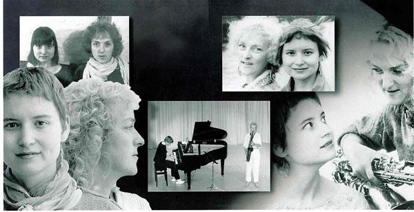 Hanne Rømer & Marietta Wandall Duo collage 1990